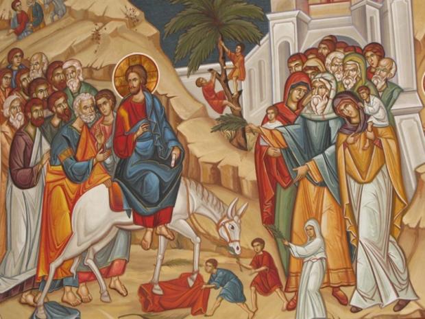 icoana intrarii domnului in ierusalim